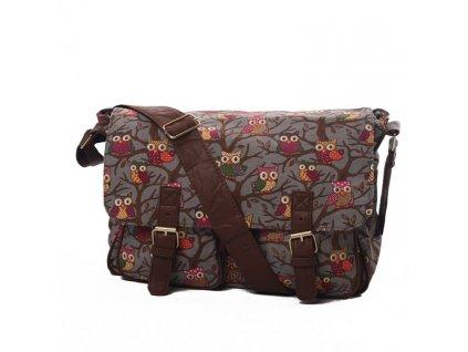Dámská taška přes rameno CB159 3087 SOVA ŠEDÁ