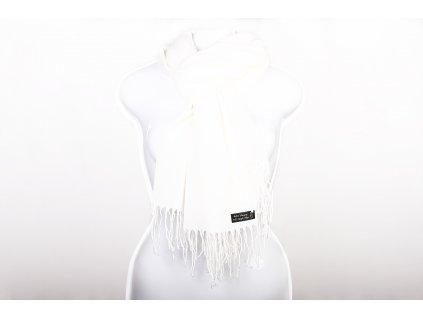 Dámský šál smetanově bílý