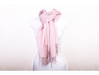 Dámský šál světle růžový