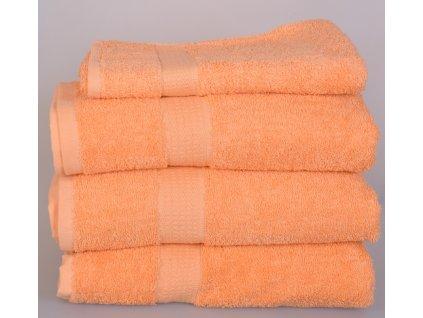 Froté ručník SPRING , 50x100 cm, meruňkový
