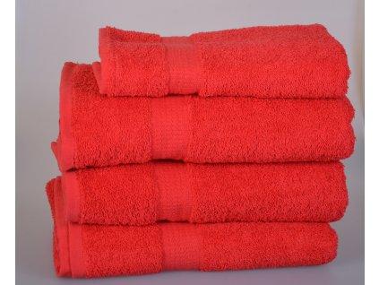 Froté osuška SPRING , 70x140 cm, červená