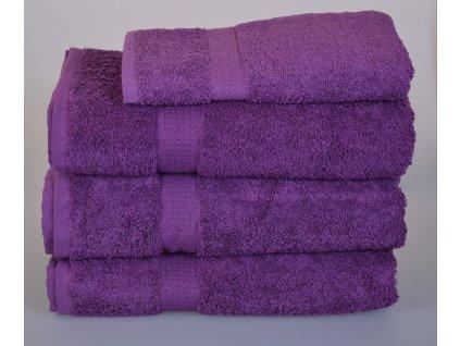Froté ručník SPRING , 50x100 cm, fialový