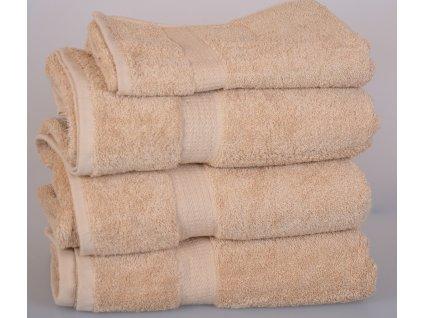Froté ručník SPRING , 50x100 cm, béžový