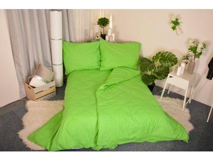 Bavlněné povlečení Zelené 140x200/70x90