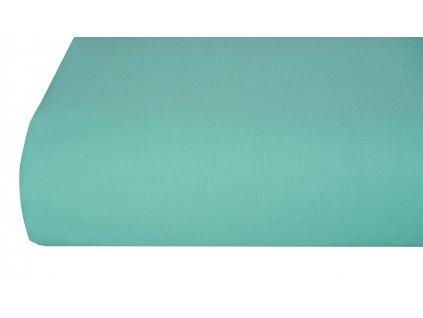 Bavlněná plachta, prostěradlo 140x225 cm tyrkysové