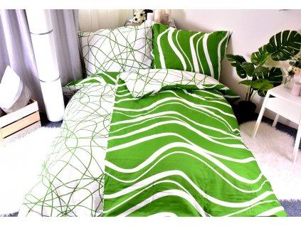 3987 aaryans bavlnene povleceni green line 140 x 200 70x90