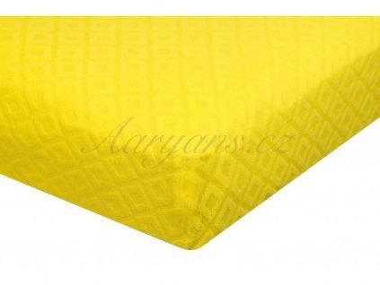 Prostěradlo žakár 200 x 160 cm žluté