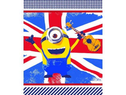 Fleece Blanket 125x150 Minions 01