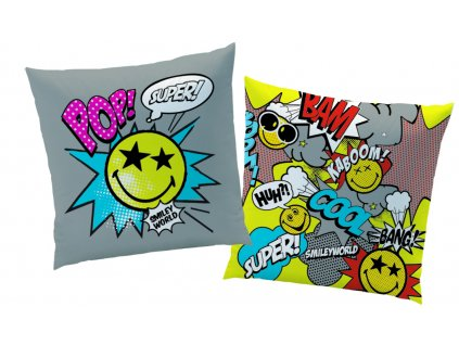 SMILEY COMICS coussin 40x40