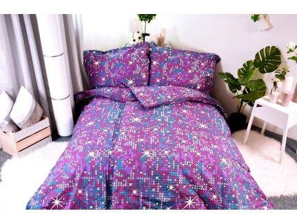 7525 aaryans bavlnene povleceni fialove perly 140x200 70x90cm