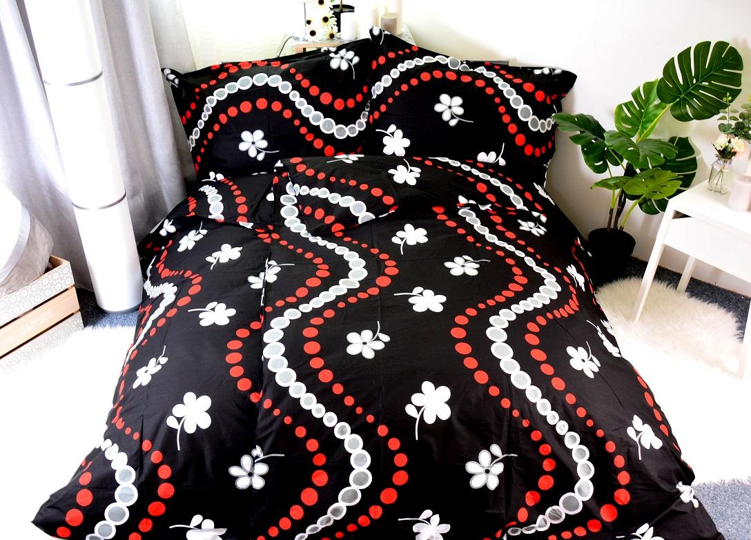 bavlněné povlečení SOFY-černé 140x200/70x90cm