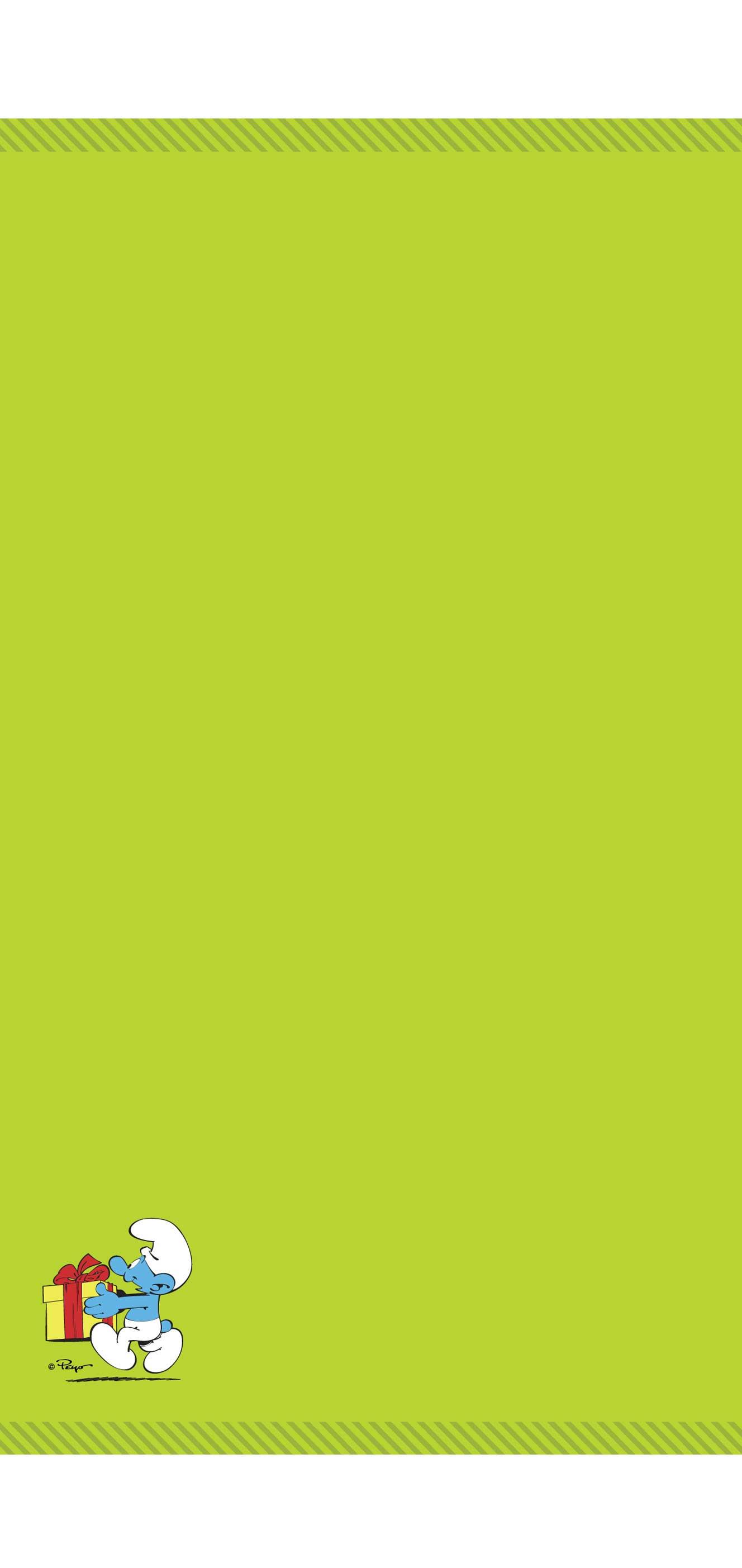 Osuška Šmoulové- zelená 70x140 cm