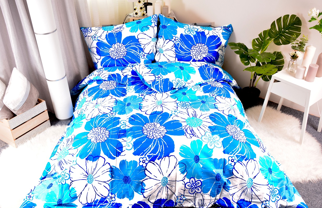 flanelové povlečení MONIKA BLUE 140x200/90x70cm