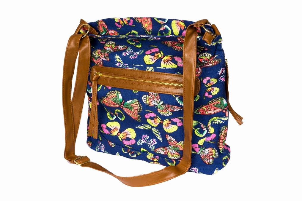 Látková taška s třpytkami A81013 modrá