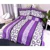27311 flanelove povleceni violet circles 140x200 90x70cm