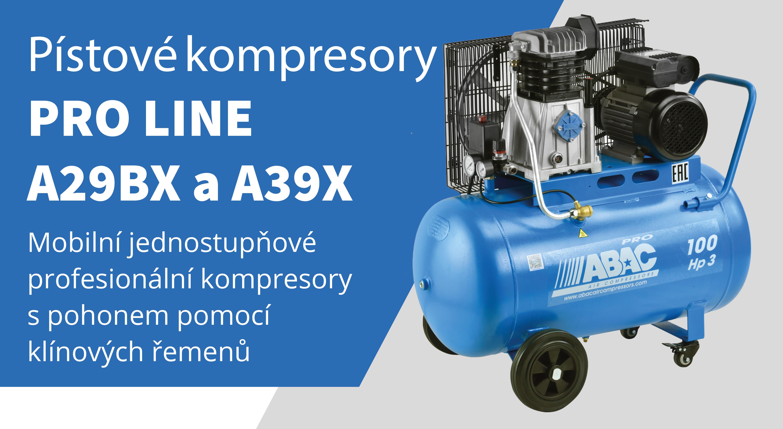 Pístové kompresory Pro Line A29BX, A39X