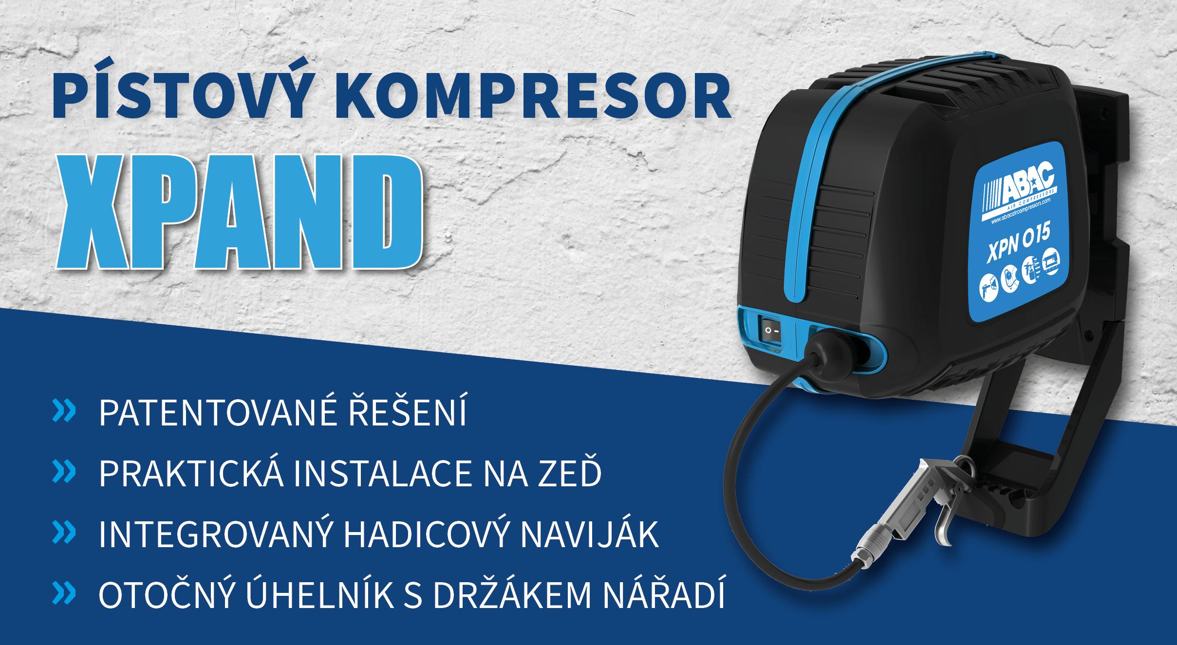 Pístový kompresor XPand O15N-1,1-XPN