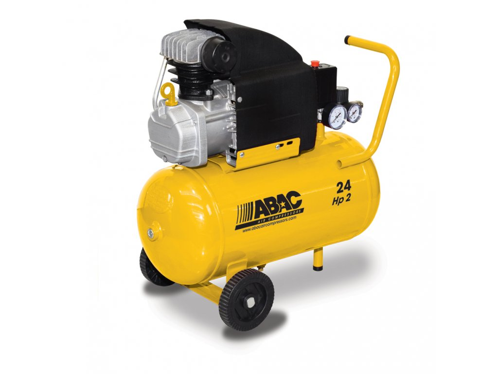 Kompresor Base Line B20-1,5-24CM  príkon 1,5 kW, sací výkon 190 l/min, tlak 8 bar, vzdušník 24 l, napätie 230/50 V/Hz
