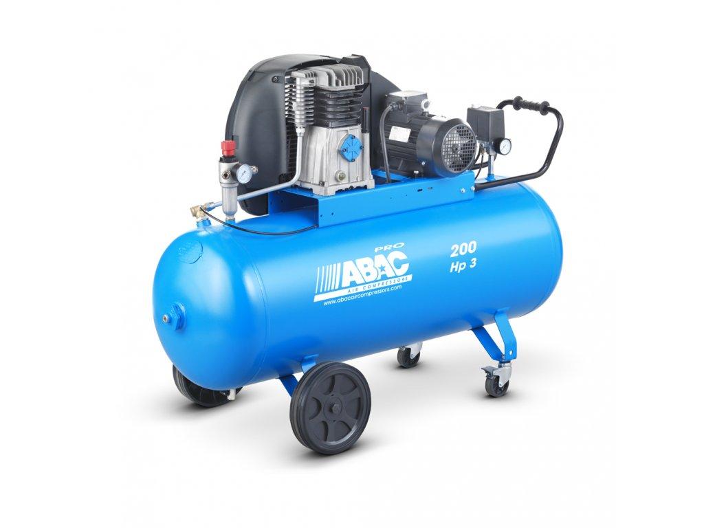 Kompresor Pro Line A39-2,2-200CM  príkon 2,2 kW, sací výkon 393 l/min, tlak 10 bar, vzdušník 200 l, napätie 230/50 V/Hz