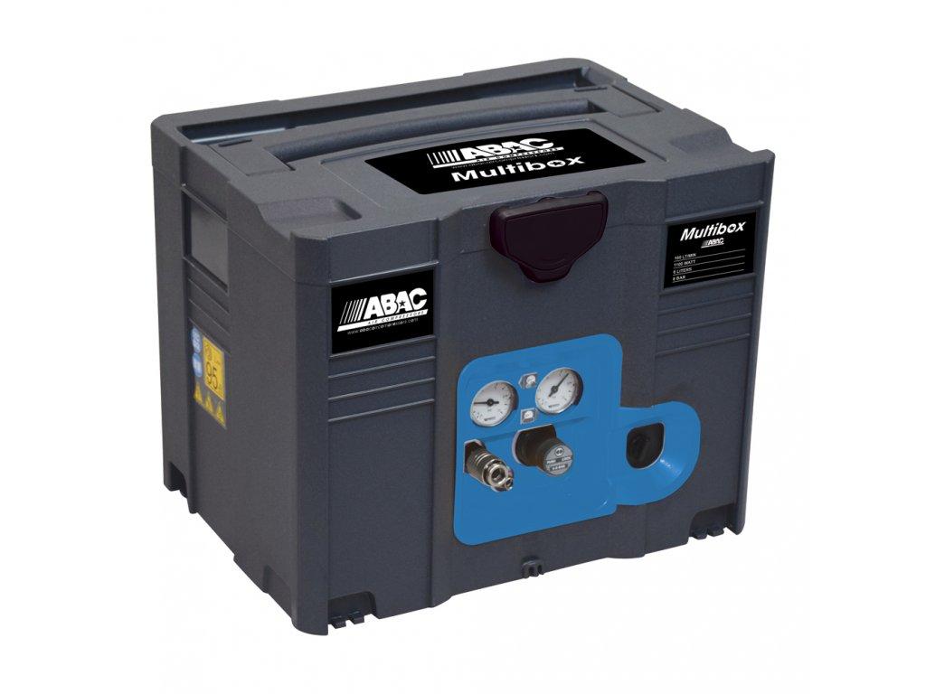 Kompresor Multibox MB-1,1-6BM  príkon 1,1 kW, sací výkon 160 l/min, tlak 8 bar, vzdušník 6 l, napätie 230/50 V/Hz