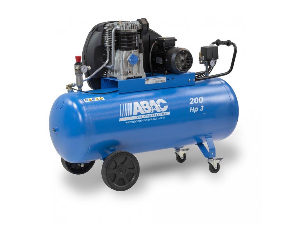 Kompresor Pro Line A49B-2,2-200CT  príkon 2,2 kW, sací výkon 444 l/min, tlak 11 bar, vzdušník 200 l, napätie 400/50 V/Hz