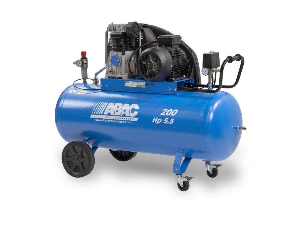 Kompresor Pro Line A49B-4-200CT  príkon 4 kW, sací výkon 595 l/min, tlak 11 bar, vzdušník 200 l, napätie 400/50 V/Hz