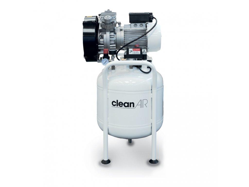 Dentálny kompresor Clean Air CLR-1,1-50M  príkon 1,1 kW, sací výkon 240 l/min, tlak 8 bar, vzdušník 50 l, napätie 230/50 V/Hz