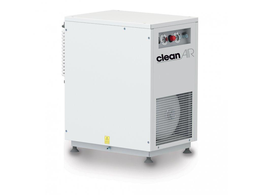 Dentálny kompresor Clean Air CLR-1,5-30MS  príkon 1,5 kW, sací výkon 350 l/min, tlak 8 bar, vzdušník 30 l, napätie 230/50 V/Hz