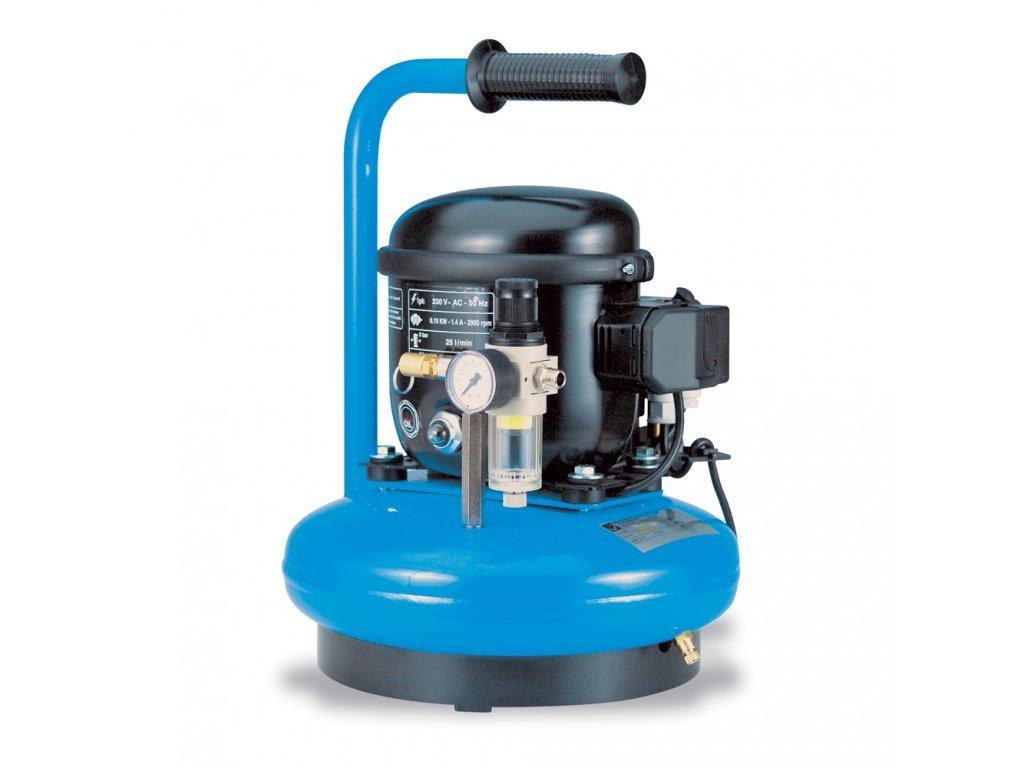 Odhlučnený kompresor Silent Mini AJ30-6RM  príkon 0,19 kW, sací výkon 30 l/min, tlak 8 bar, vzdušník 6 l, napätie 230/50 V/Hz