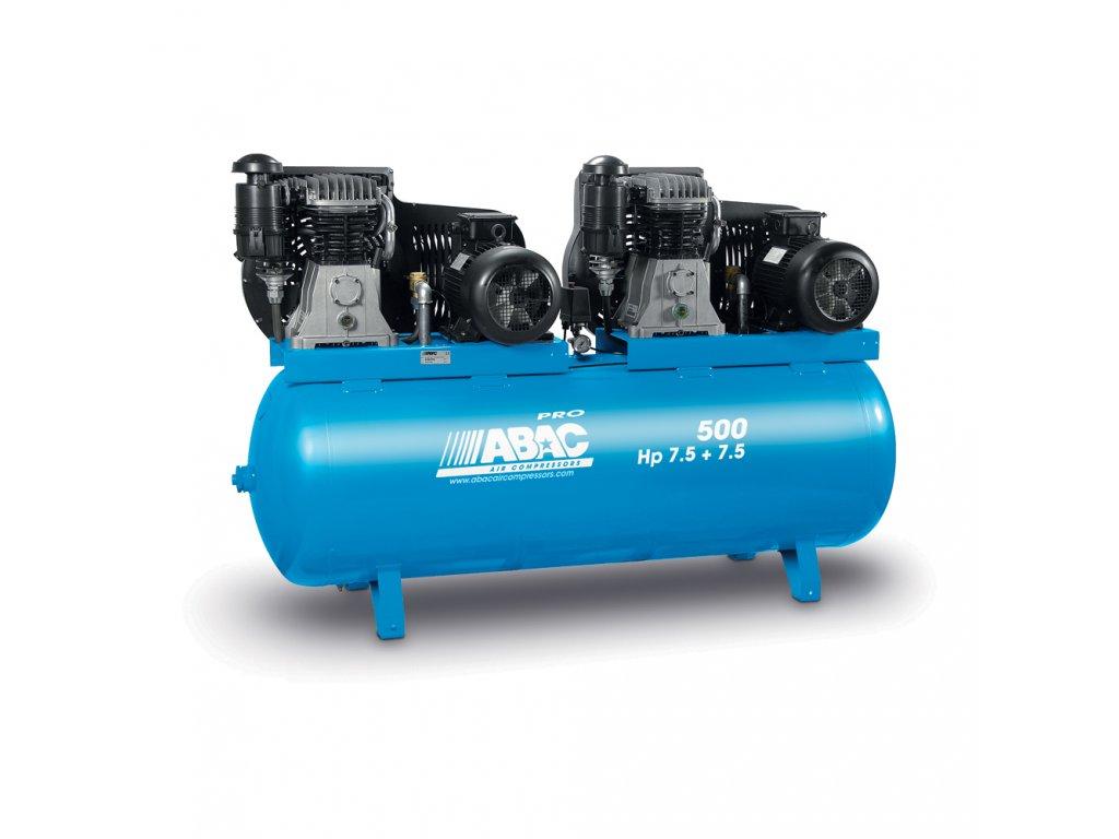 Kompresor Pro Line B70-2x5,5-500FT  príkon 11 kW, sací výkon 2 046 l/min, tlak 11 bar, vzdušník 500 l, napätie 400/50 V/Hz