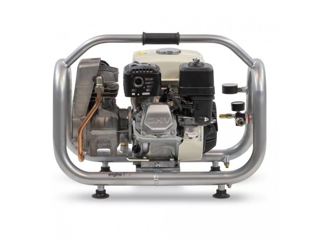 Benzínový kompresor Engine Air EA5-3,5-2,5RP  príkon 3,5 kW, sací výkon 275 l/min, tlak 10 bar, vzdušník 2,5 l
