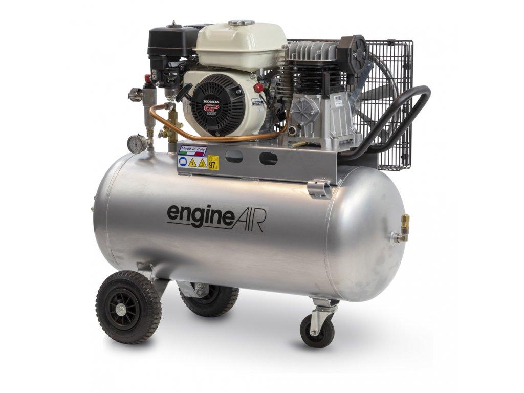 Benzínový kompresor Engine Air EA4-3,5-100CP  príkon 3,5 kW, sací výkon 320 l/min, tlak 10 bar, vzdušník 100 l