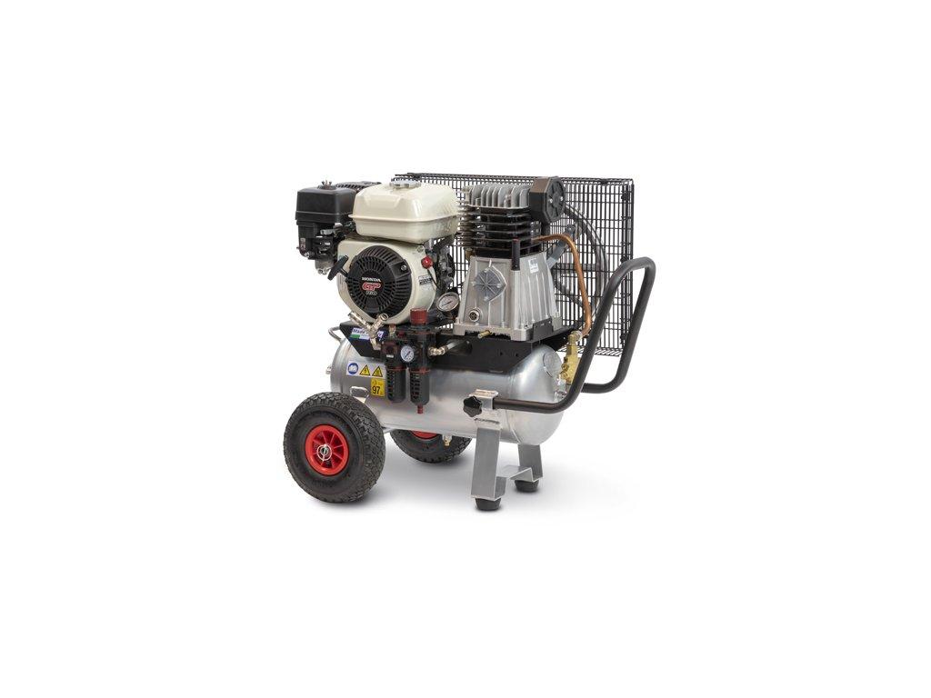 Benzínový kompresor Engine Air EA5-3,5-24CP  príkon 3,5 kW, sací výkon 411 l/min, tlak 10 bar, vzdušník 24 l