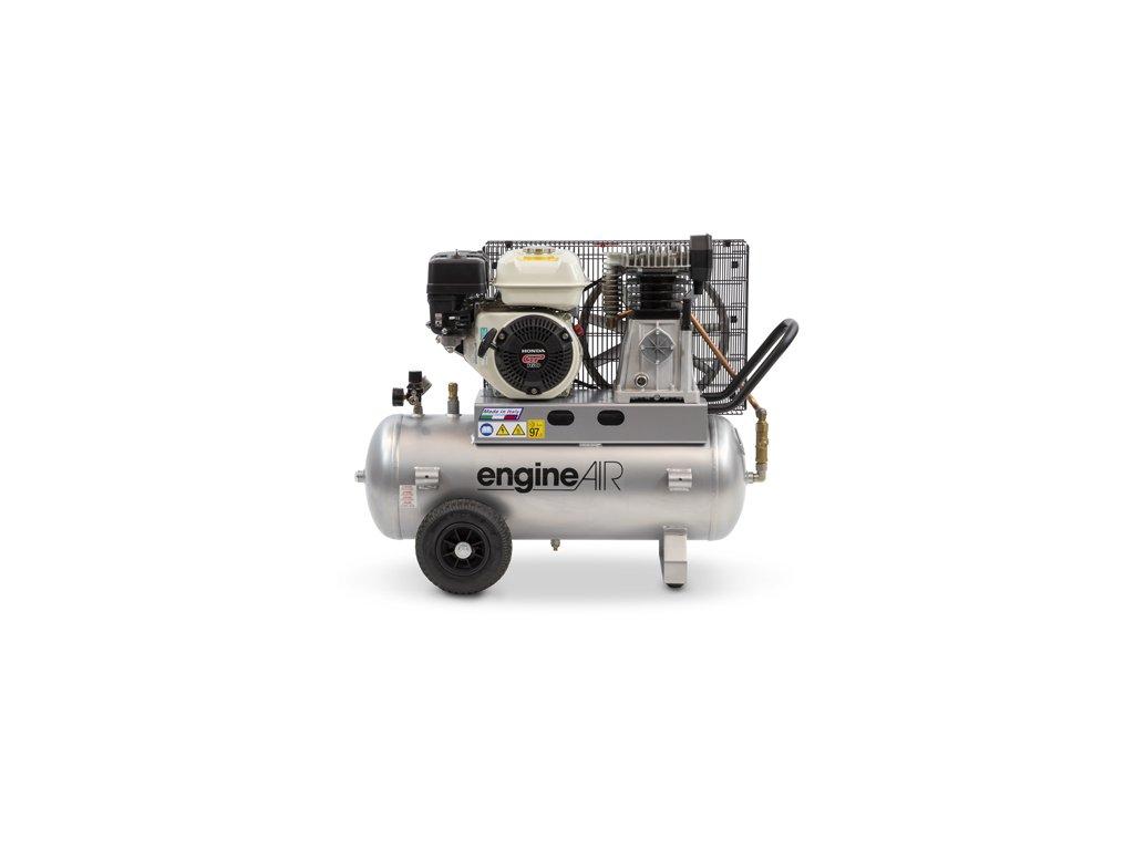 Benzínový kompresor Engine Air EA5-3,5-50CP  príkon 3,5 kW, sací výkon 411 l/min, tlak 10 bar, vzdušník 50 l