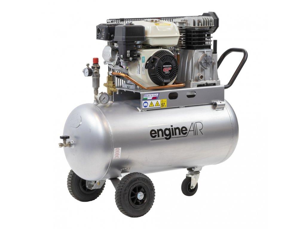 Benzínový kompresor Engine Air EA5-3,5-100CP  príkon 3,5 kW, sací výkon 411 l/min, tlak 10 bar, vzdušník 100 l