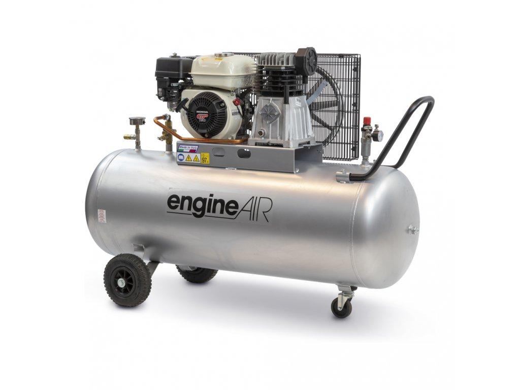 Benzínový kompresor Engine Air EA5-3,5-200CP  príkon 3,5 kW, sací výkon 411 l/min, tlak 10 bar, vzdušník 200 l