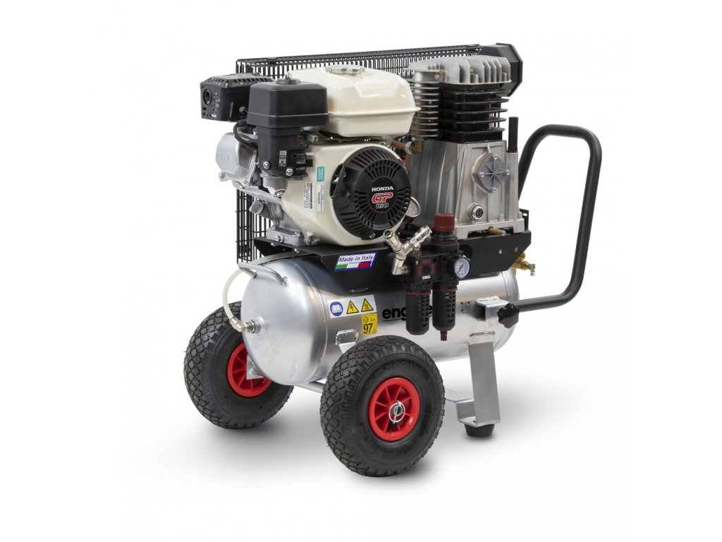 Benzínový kompresor Engine Air EA9-6,2-50CP  príkon 6,2 kW, sací výkon 552 l/min, tlak 10 bar, vzdušník 50 l