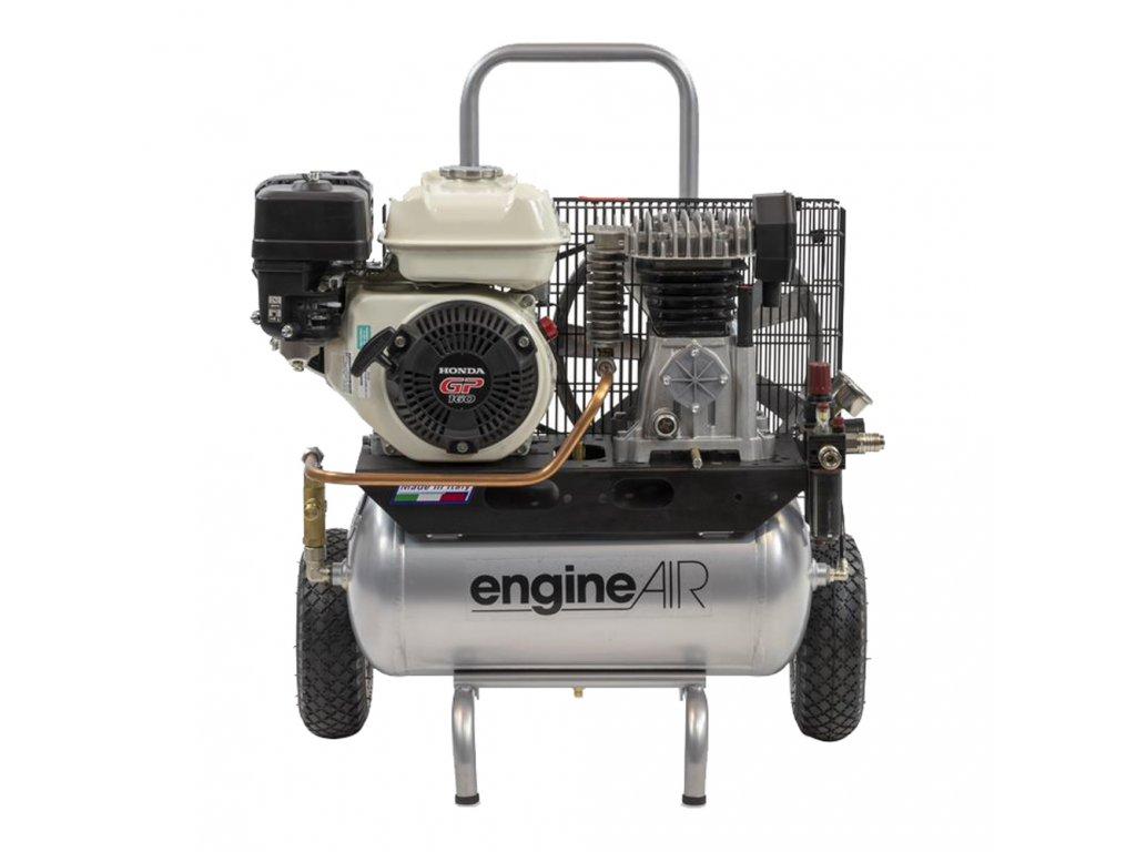 Benzínový kompresor Engine Air EA4-3,5-22RP  príkon 3,5 kW, sací výkon 320 l/min, tlak 10 bar, vzdušník 22 l