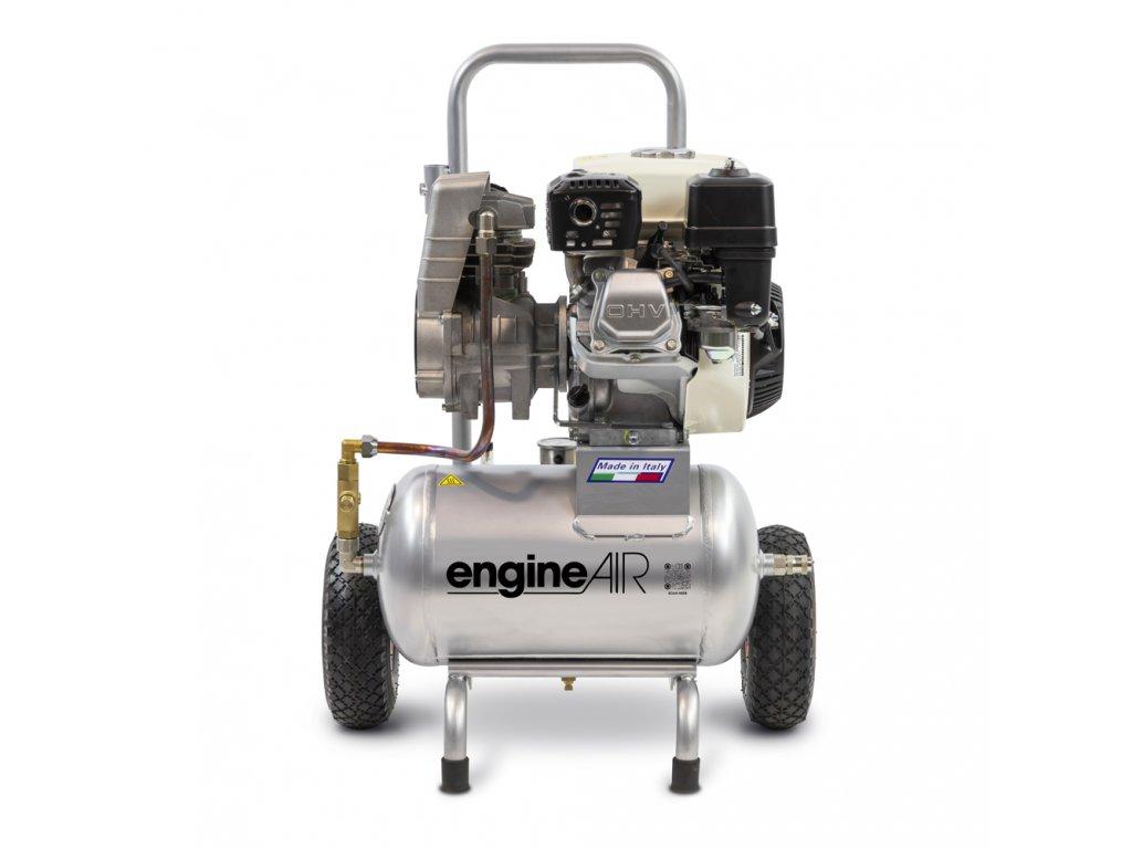 Benzínový kompresor Engine Air EA5-3,5-20RP  príkon 3,5 kW, sací výkon 275 l/min, tlak 10 bar, vzdušník 20 l
