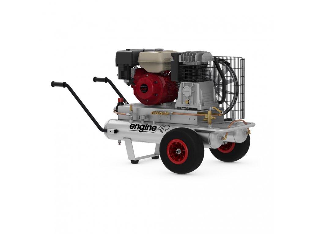Benzínový kompresor Engine Air EA5-3,5-2x11CP  príkon 3,5 kW, sací výkon 411 l/min, tlak 10 bar, vzdušník 22 l
