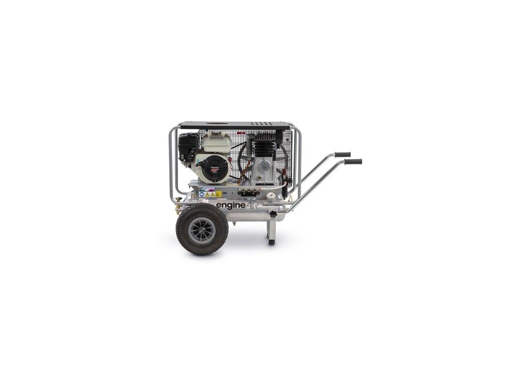 Benzínový kompresor Engine Air EA5-3,5-2x11RP  príkon 3,5 kW, sací výkon 411 l/min, tlak 10 bar, vzdušník 22 l