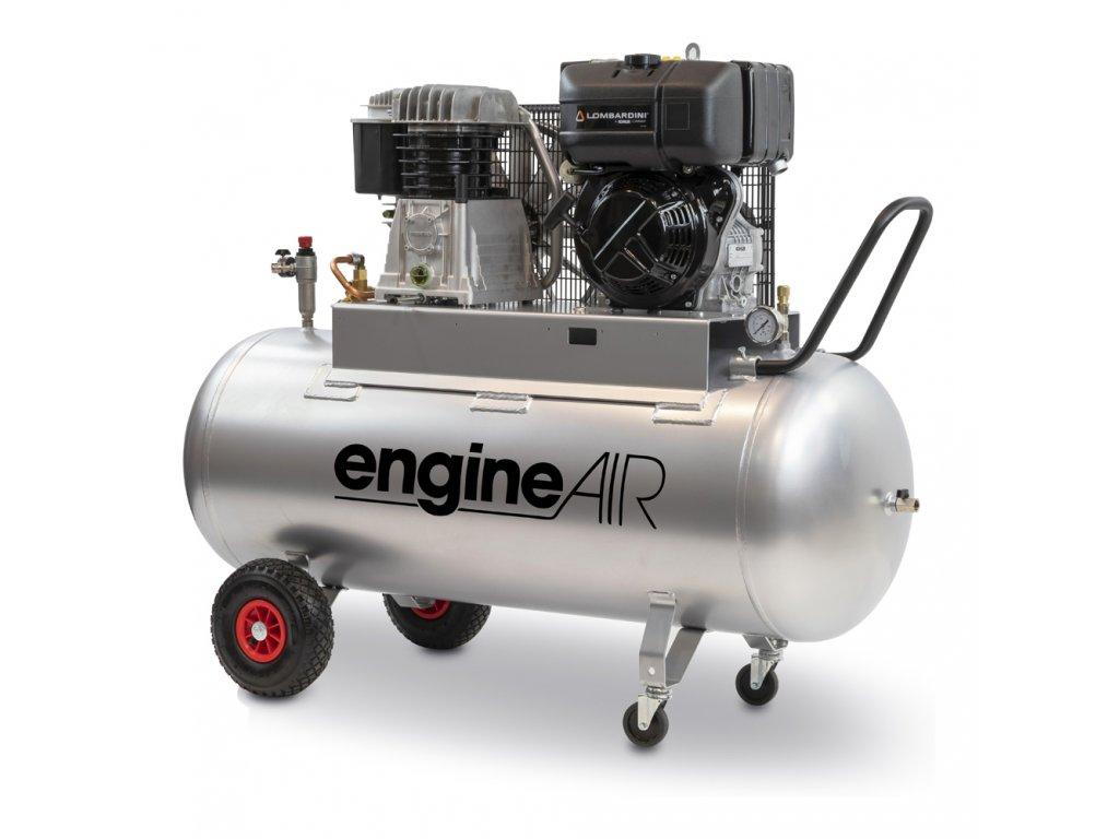 Dieselový kompresor Engine Air EA7-5,2-270CD  príkon 5,2 kW, sací výkon 541 l/min, tlak 10 bar, vzdušník 270 l