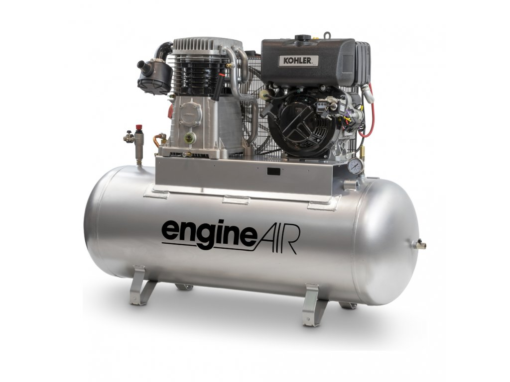 Dieselový kompresor Engine Air EA11-7,5-270FD  príkon 7,5 kW, sací výkon 1 038 l/min, tlak 10 bar, vzdušník 270 l