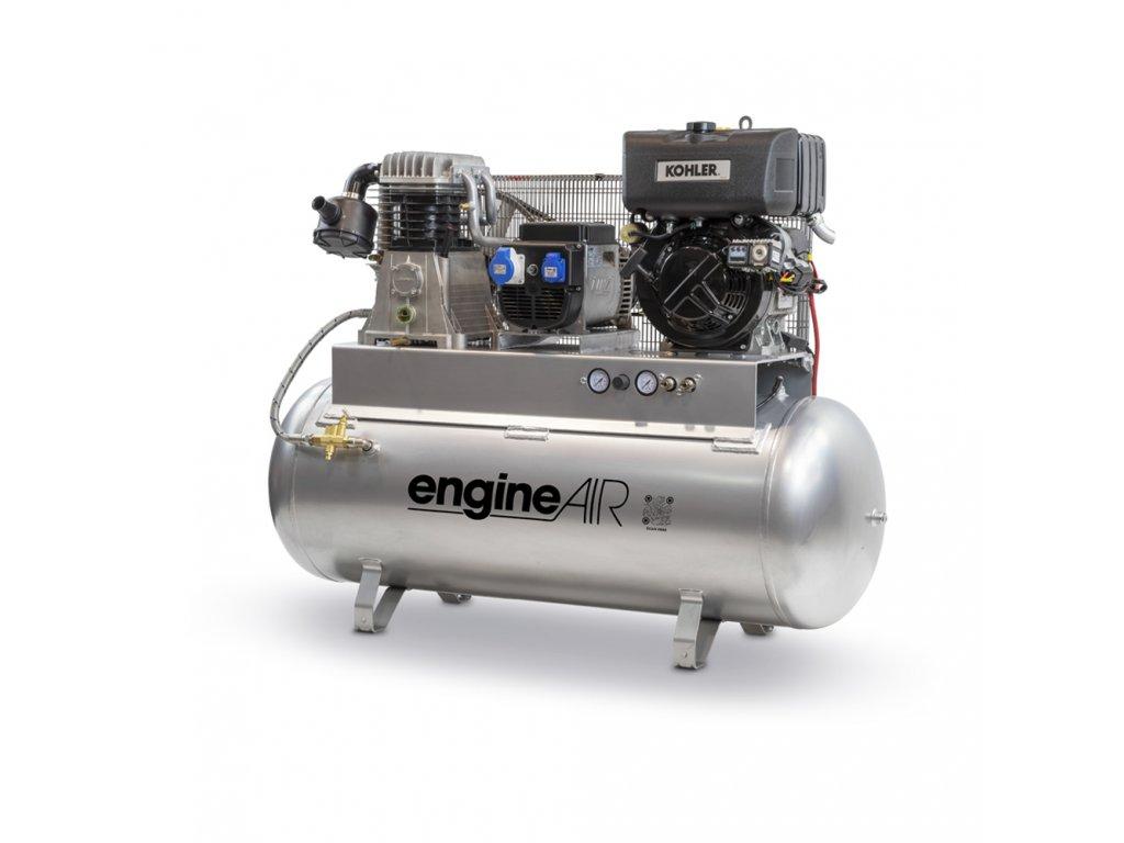 Dieselový kompresor s elektrocentrálou Engine Air EA10-7,5-270FBD  príkon 7,5 kW, sací výkon 468 l/min, tlak 10 bar, vzdušník 270 l