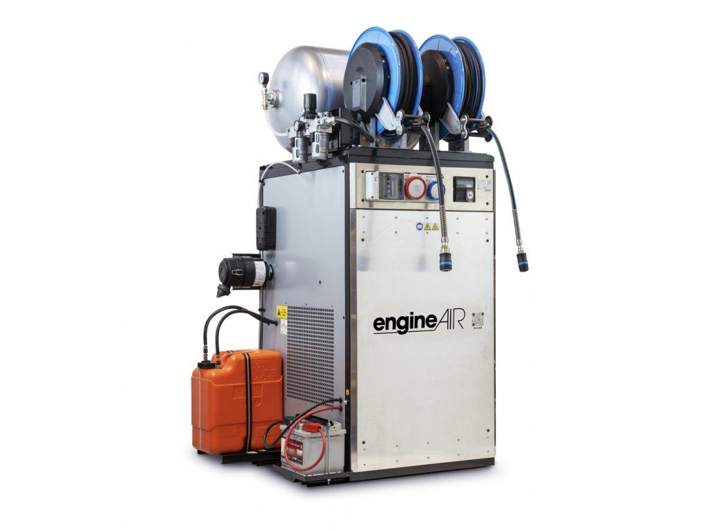 Dieselový kompresor s elektrocentrálou Engine Air EA17-12,6-90FBDS  príkon 12,6 kW, sání 765 l/min, tlak 12 bar, vzdušník 90 l