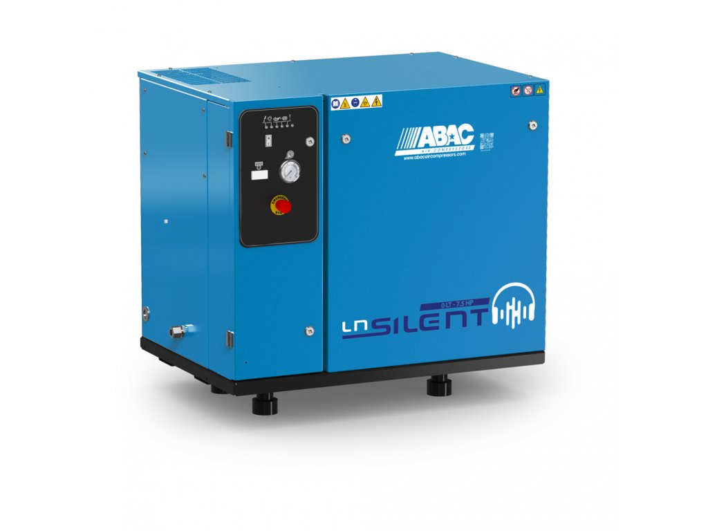 Odhlučnený kompresor Silent LN B60-5,5-L2T  príkon 5,5 kW, sací výkon 660 l/min, tlak 11 bar, bez vzdušníka, napätie 400/50 V/Hz