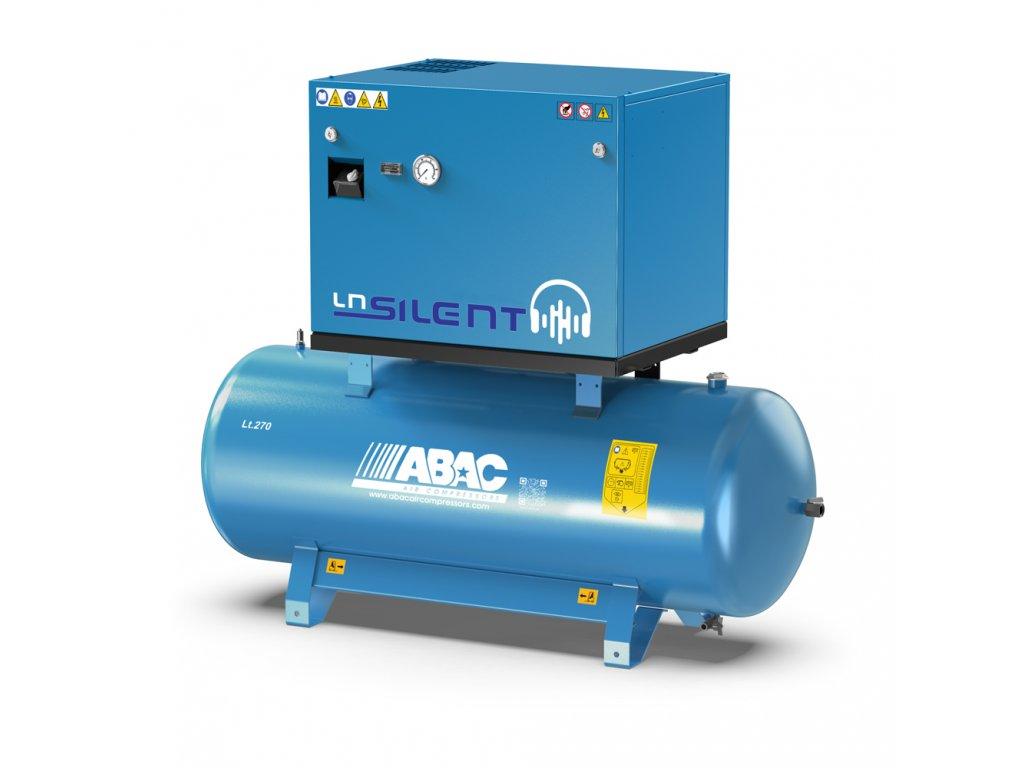Odhlučnený kompresor Silent LN A39B-3-270L1T  príkon 3 kW, sací výkon 490 l/min, tlak 10 bar, vzdušník 270 l, napätie 400/50 V/Hz