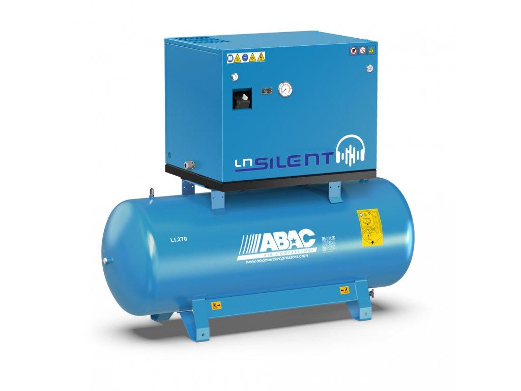 Odhlučnený kompresor Silent LN A49B-4-270L1T  príkon 4 kW, sací výkon 598 l/min, tlak 11 bar, vzdušník 270 l, napätie 400/50 V/Hz