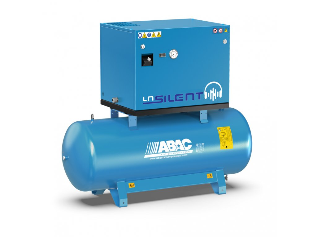 Odhlučnený kompresor Silent LN B59-4-500L1T  príkon 4 kW, sací výkon 570 l/min, tlak 11 bar, vzdušník 500 l, napätie 400/50 V/Hz