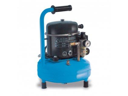Odhlučnený kompresor Silent Mini AP50-9RM  príkon 0,34 kW, sací výkon 50 l/min, tlak 8 bar, vzdušník 9 l, napätie 230/50 V/Hz
